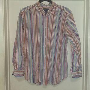 Ralph Lauren boys L 14-16 button down shirt